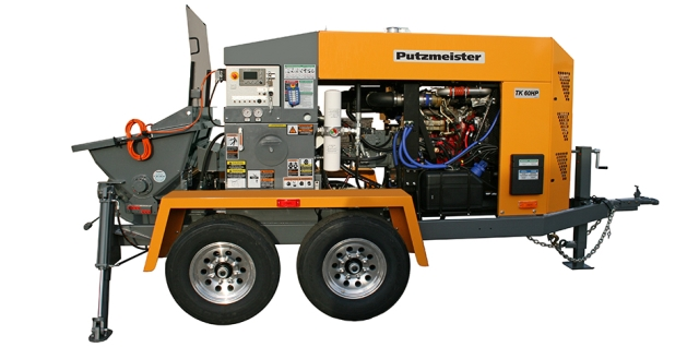 Putzmeister TK 6O HP (Tier 4) Concrete Trailer Pump